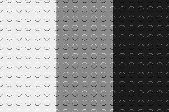 Gray lego blocks seamless patterns