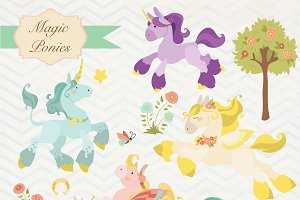 Magic Ponies clipart