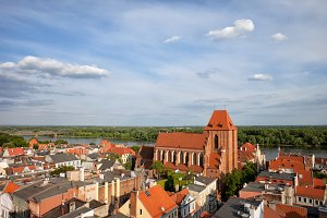 City of Torun Old Town From Above