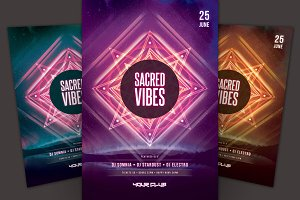 Sacred Vibes Flyer