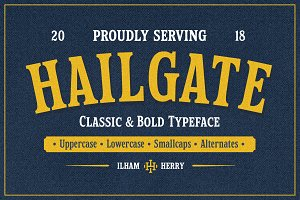 Hailgate Display Font