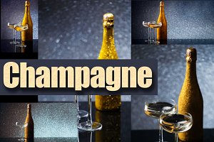 Gold champagne backgrounds