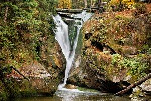 Szklarka Waterfall in Poland