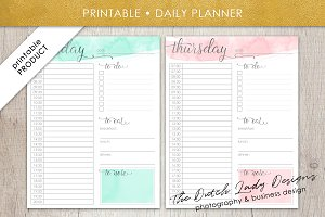 Printable Daily Planner Design #2