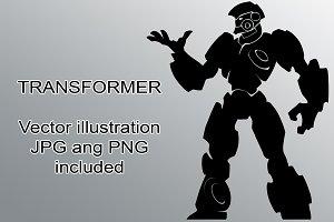 Transformer Vector silhouette