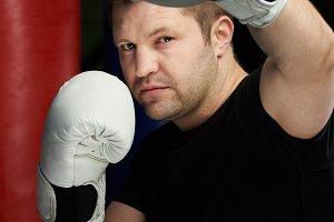 Portrait of boxing man