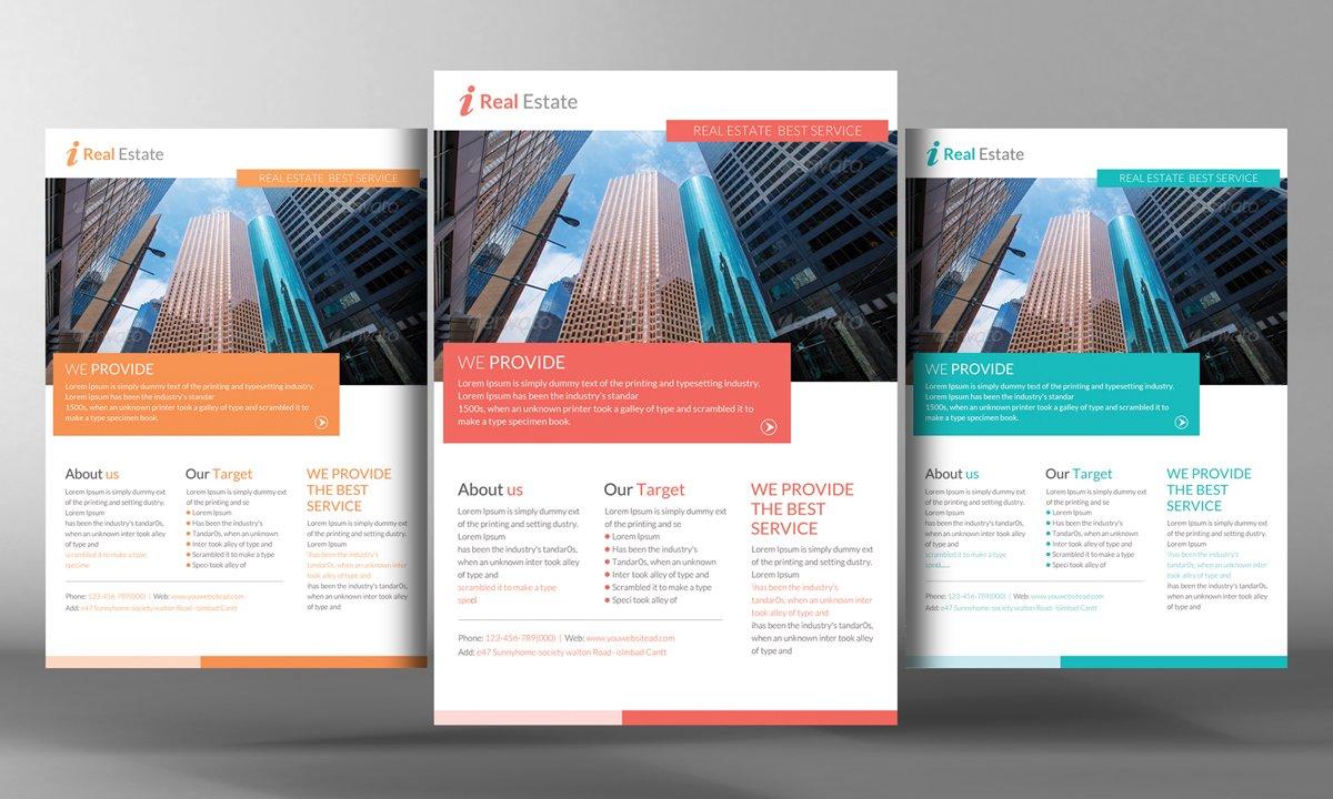 Real Estate Flyer Template Flyer Templates Creative Market - Realtor flyer template