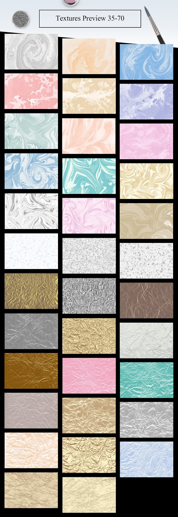 70 Watercolor, Gold, Marble Textures in Textures - product preview 2