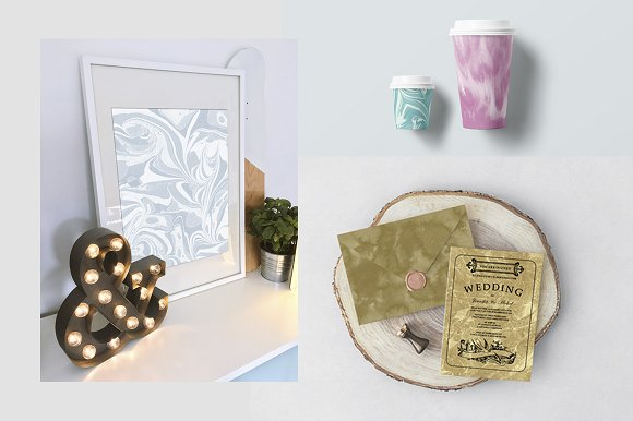70 Watercolor, Gold, Marble Textures in Textures - product preview 5