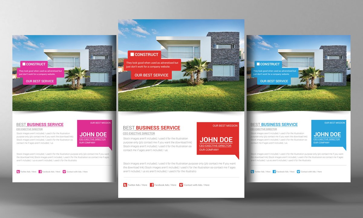 Real Estate Flyer Template Flyer Templates Creative Market - Commercial real estate brochure template