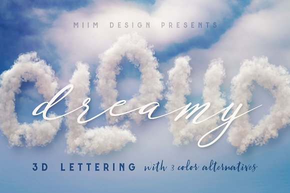 Dreamy Clouds - 3D Letterin-Graphicriver中文最全的素材分享平台
