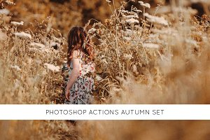 Photoshop actions Autumn set