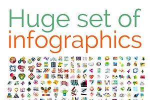 Huge mega set of infographics