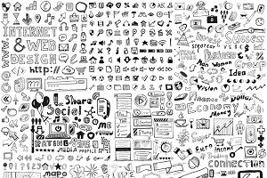 Huge set of hand-drawn elements