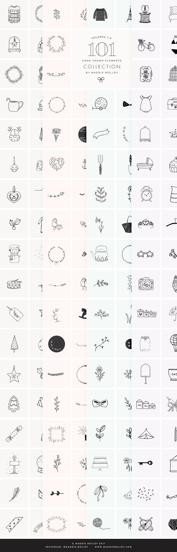 404 Hand Drawn Logo Elements EPS PSD
