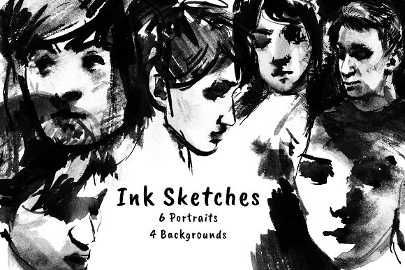 Ink Sketches-Graphicriver中文最全的素材分享平台