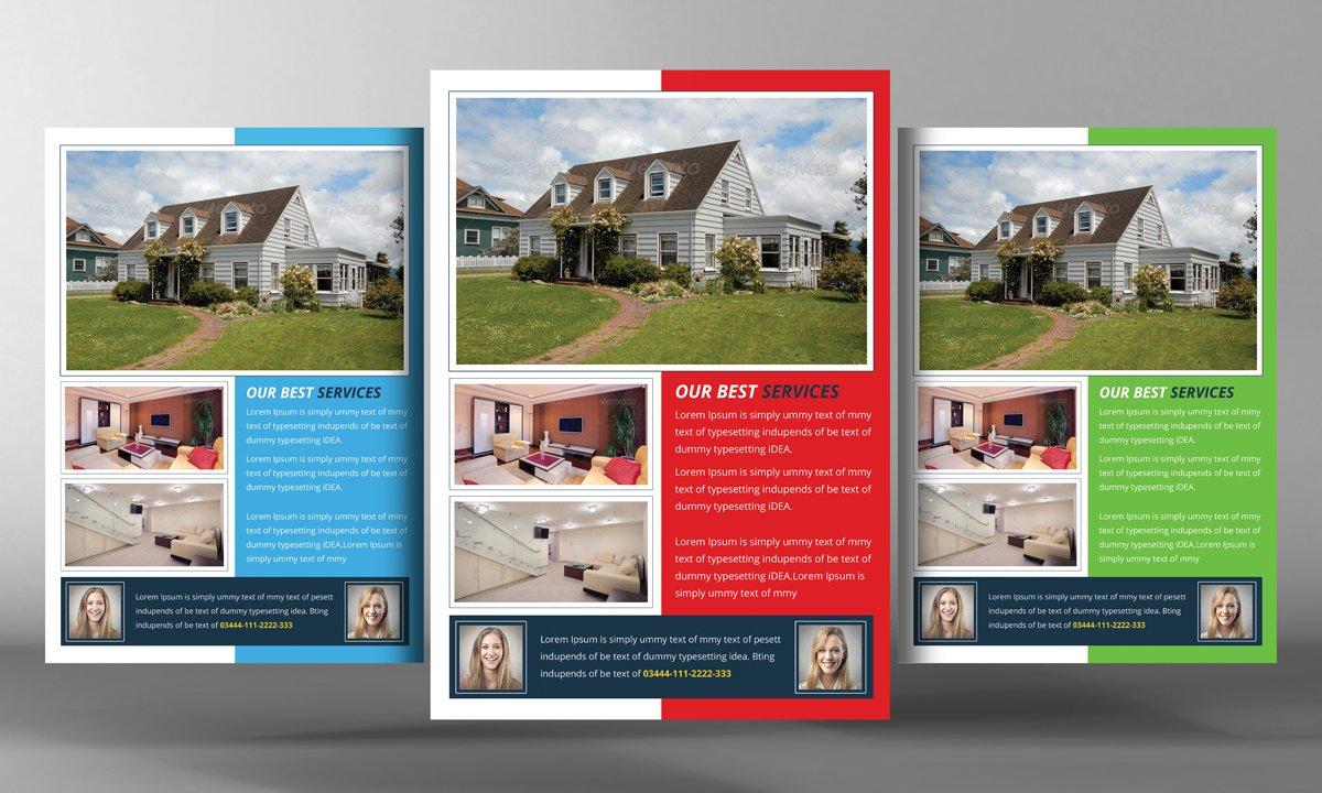 Real Estate Flyer Template Flyer Templates Creative Market - Property flyer template