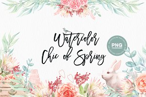 Watercolor Chic of Spring