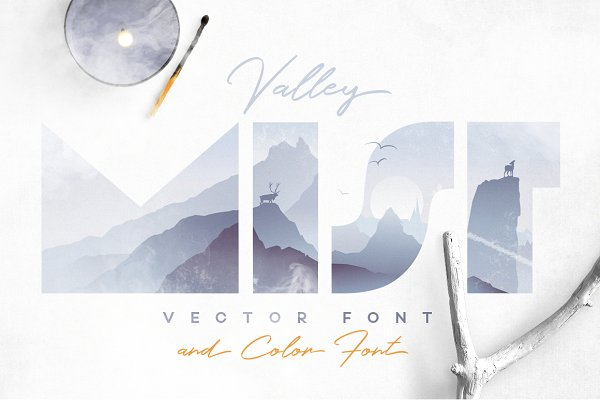 Valley Mist- SVG Color Font