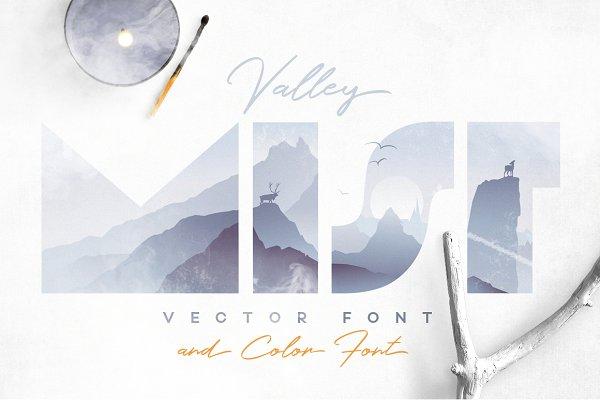 Symbol Fonts: Polar Vectors - Valley Mist- SVG Color Font