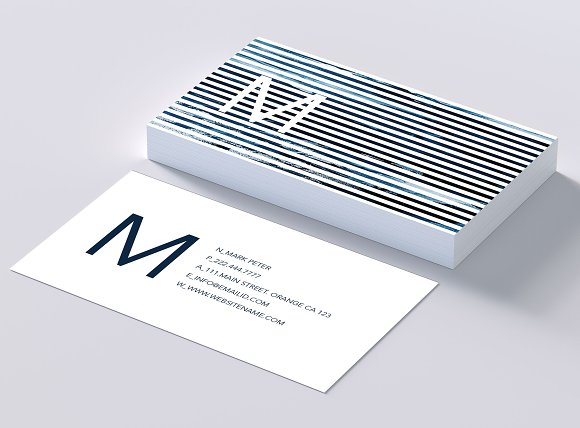 Classy Line Art Business Card