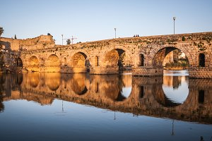 Merida Roman bridge in Spain