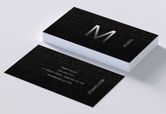 Classy Rich Texture Business Card