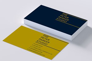 Rich colors elegant business card