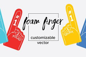 Vector Foam Finger