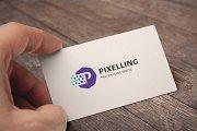 Letter P (Pixelling) Logo