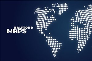 Maps halftone
