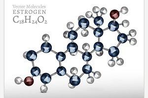 Estrogen Molecule Image