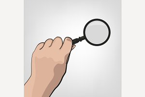 Hand with Magnifier