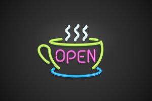 Open - Neon Sign