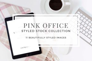 Pink Office Styled Stock
