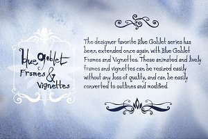 Blue Goblet Frames and Vignettes