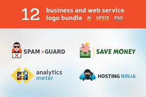 12 business and web logo bundle