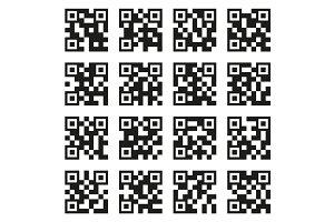 QR Codes Set