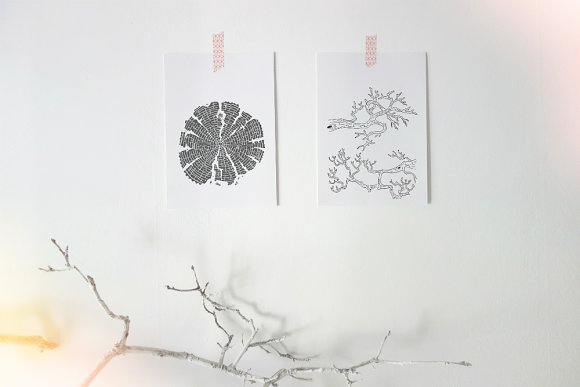 Branches & Tree-rings in Illustrations - product preview 2