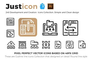 240 Development & Creation Icons