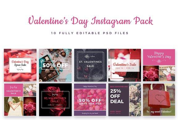 ValentineЎЇs Day Instagram Pack