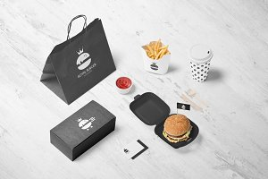 Royal Burger Logo Design + Patterns