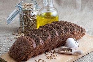 bread, olive oil, grain