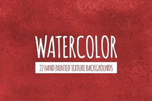 Red Watercolor Texture Backgrounds