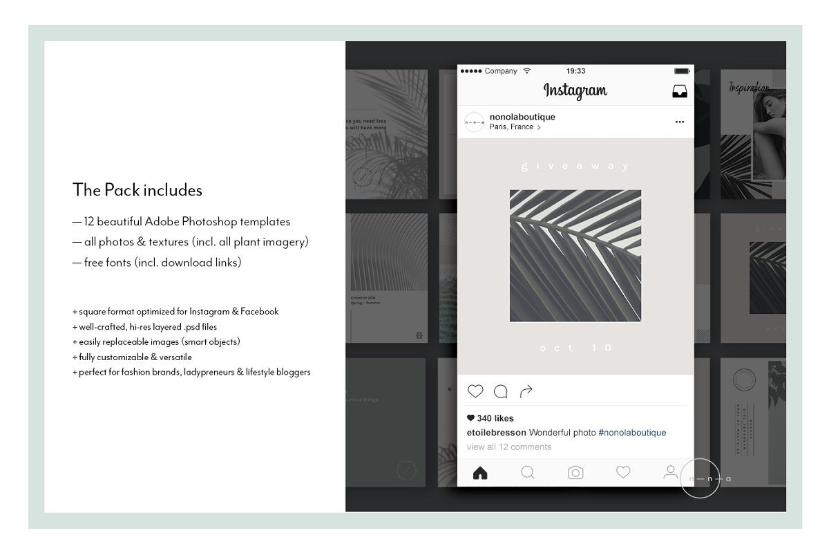 Lifestyle Social Media Pack • Íma in Instagram Templates - product preview 6