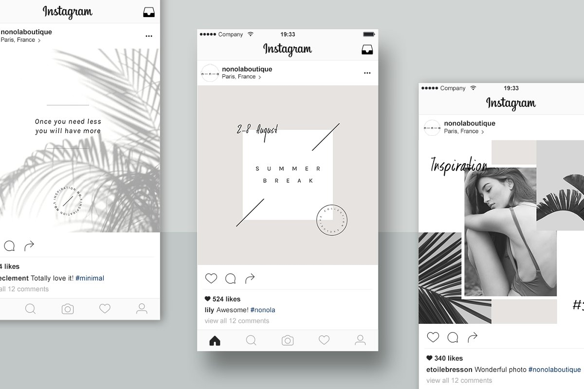 Lifestyle Social Media Pack • Íma in Instagram Templates - product preview 3