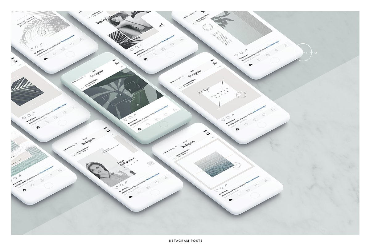 Lifestyle Social Media Pack • Íma in Instagram Templates - product preview 2