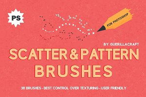 Scatter&Pattern Photoshop brushes