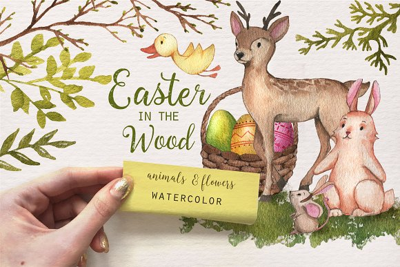Easter in the Wood -Graphicriver中文最全的素材分享平台