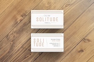 Solitude Business Card Template